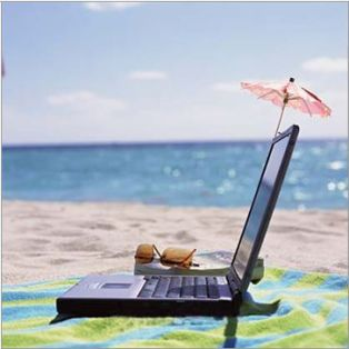 Laptop on Beach Blog image